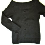 "black ""with holes"" jumper"