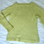 light green jumper