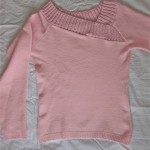 pink asimetric jumper